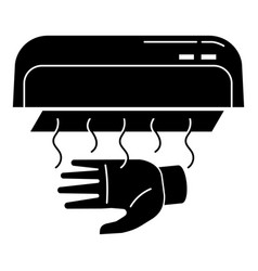 Hand dryer icon simple style vector