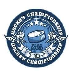 Hockey team logo template Emblem logotype vector image