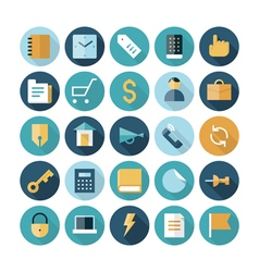 icons flat line business finance vector image