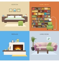Interior Colored Compositions vector image