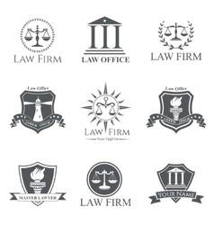 Law Firm set vector