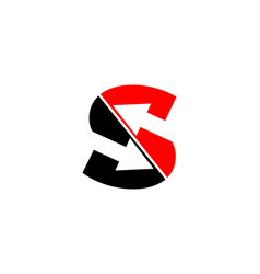letter s arrow logo design element vector image