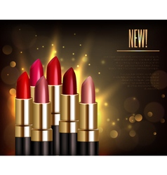 Lipstick Assortment Background vector image