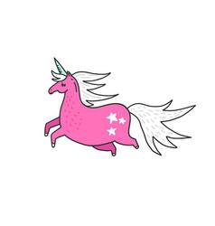 magic unicorn vector image
