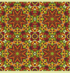 mandala oriental pattern doodle drawing vector image
