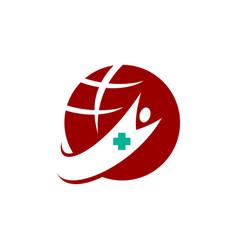 Medical health world clinic logo template vector