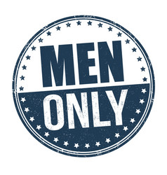 Men only grunge rubber stamp vector