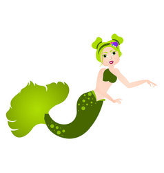 mermaid cartoon character fantasy creature vector image