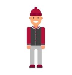 Modern hipster boy vector