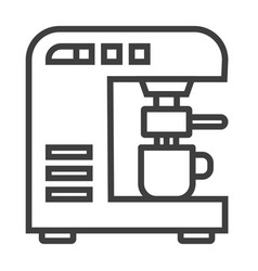 modern thin line icon of coffee machine premium vector image