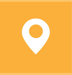 Navigation gps icon full white google map icon vector