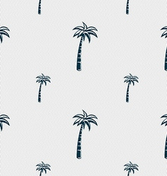 Palm sign Seamless pattern with geometric texture vector