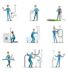 Plumber and water supply plumbing specialist at vector