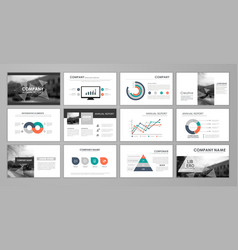 Presentation templates for corporate booklet vector