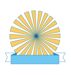 Ribbon banner with emblem vector