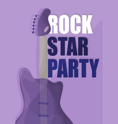 rock star party music poster background template vector image