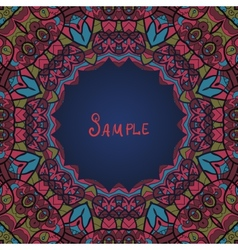Round ornamental frame in ottoman style vector image