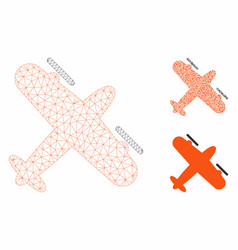 Screw aeroplane mesh carcass model and vector
