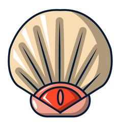 Sea shell icon cartoon style vector