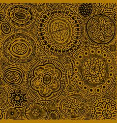 seamless pattern seamless botanic texture vector image