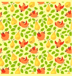 seamless pattern with fresh yellow pears vector image
