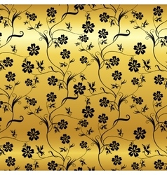 seamless shining background with vintage floral vector image