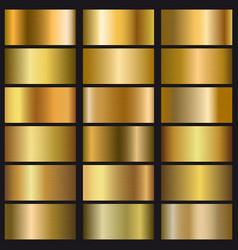 Set gold gradient texture vector