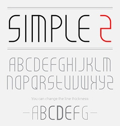 simple font made thin lines you can change the vector image