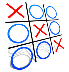 Tic tac toe with match vector