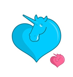Unicorn heart logo LGBT symbol community Sign of vector image
