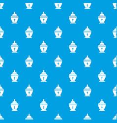Urn pattern seamless blue vector