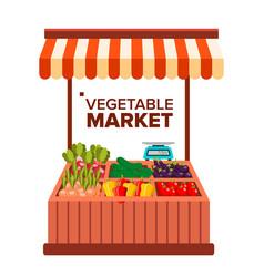 Vegetable market natural eco healthy vector