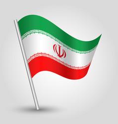 waving simple triangle iranian flag iran vector image