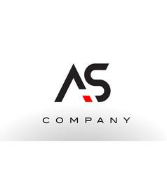 as logo letter design vector image vector image