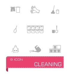 Cleaning icon set vector image