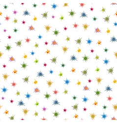 Colourful stars seamless pattern vector image vector image