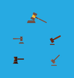 flat icon lawyer set of justice court tribunal vector image vector image
