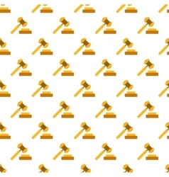 Hammer of justice pattern seamless vector image