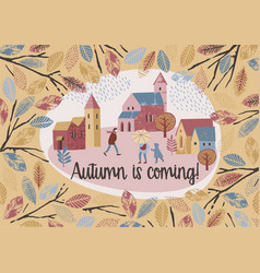 autumn design temlate vector image vector image