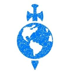 Earth Guard Grainy Texture Icon vector image