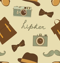 Hipster background vector image