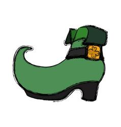 irish elf boot vector image vector image