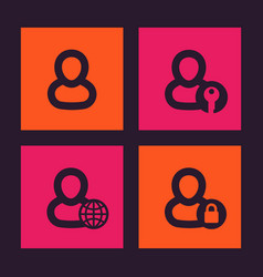 Login icons account profile sign in symbols vector