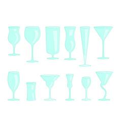 restaurant drink glasses vector image