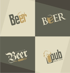 Set of beer logo design templates vector image vector image