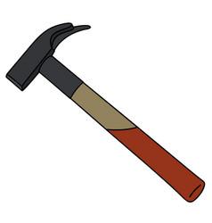 Classic carpenters hammer vector