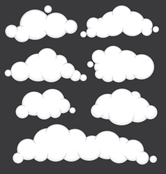 Clouds blue set vector image