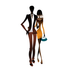 Couple standing together vector image vector image