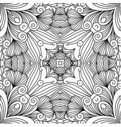 decorative zentangle swirl pattern vector image vector image