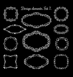hand drawing ornamental frames ornate vector image